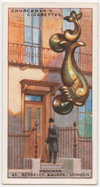 Knocker at 48, Berkeley Square, London, W.
