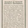 Knocker at General Gordon's birthplace.