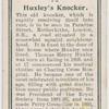 Huxley's knocker.