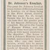 Dr. Johnson's knocker.