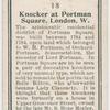 Knocker at Portman Square, London, W.