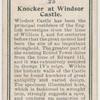 Knocker at Windsor Castle.