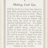 Making coal gas.