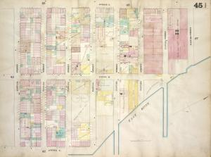 [Plate 45 1/2: Map bounded by Avenue A, East 22nd Street, East River, Avenue C, East 15th Street; Including Avenue B, East 16th Street, East 17th Street, East 18th Street, East 19th Street, East 20th Street, East 21st St]