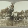 Banana wharf and coconut plantation, Jamaica.