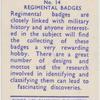 Regimental badges.