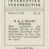 R.E.S. Wyatt (Warwick).