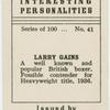 Larry Gains.