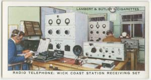 Radio telephone: Wick Coast Station receiving set.