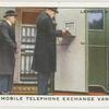Mobile telephone exchange van.