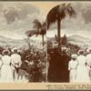 Natives Fascinated by the Fierce and Magnificent Sight of a Volcanic Eruption, Gros Morne, Martinique, F. W. I.