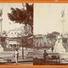 Columbus Monument showing Fort San Cristobal in the background. San Juan -- Porto Rico