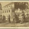 View of the Hospital at Fredericksted -- negroes disputing in the foreground.