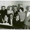 Front row: Margo Sappington, Boni Enten, Gene Palumbo, Eleanor Parker. Second Row: Theodore Mann, Janie Sell, Joe Sirola, Edward Villella, Harold Gary. Back: Austin Colyer