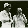 Rehearsal photograph with Jim Dale