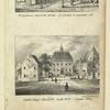 Ferry house, New York, corner of Broad & Garden Sts. Stadt-Huys, New York, built 1602, razed 1700