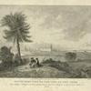 South east view of the City of New York. 1. New Colledge. 2. Old English Church. 3. City Hall. 4. French Church. 5. North River. 6. Staten Island. 7. The prison. 1768