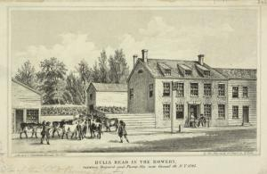 Bulls Head in the Bowery, between Bayard and Pump Sts. now Canal St. , N.Y. 1783 / by Geo. Hayward.