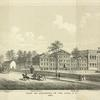 View of buildings in the park, N.Y., 1809.  School, engine house, bridewell, City Hall