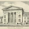 New York Theatre, erected 1826. Front on Bowery, 75 feet, depth 170 feet