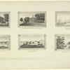 Castle Garden, New York. [And] five other views: Passaic Falls, N.J.;  Mount Vernon, seat of the late Gen. Geo. Wash.; Schuykill near Flat-Rock; Beacon St., Boston; near Fishkill on the Hudson.