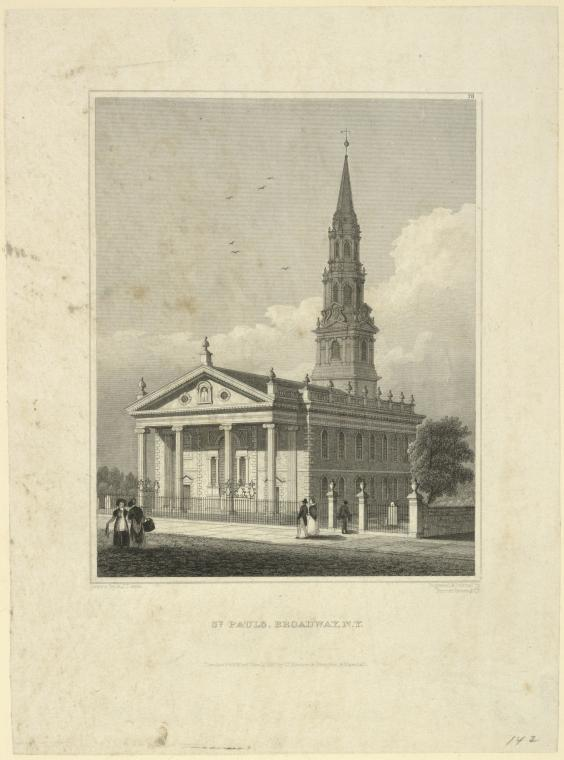 Fascinating Historical Picture of St. Pauls Church on 11/15/1831