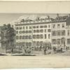 Residence of Philip Hone Esq. and American Hotel, Broadway. New-York