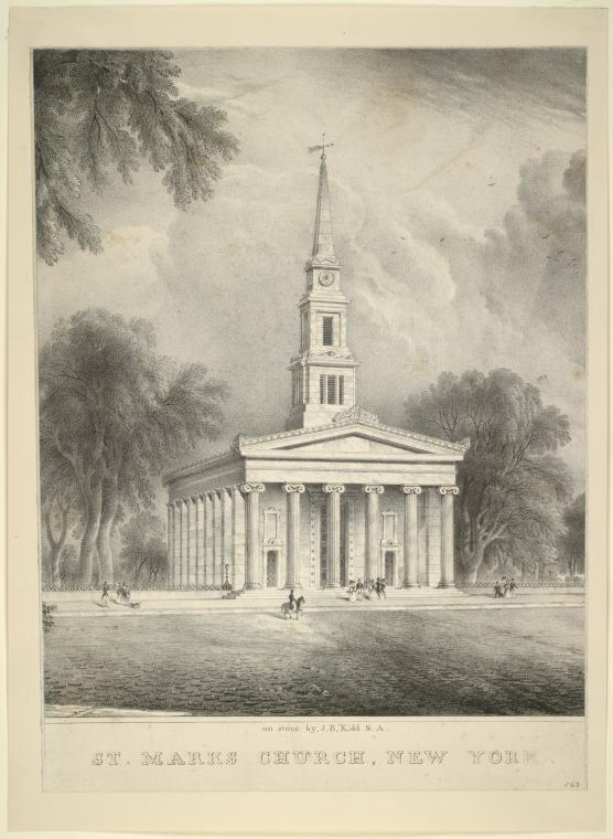 This is What John Henry Bufford and St. Marks Church New York Looked Like  on 2/5/1836