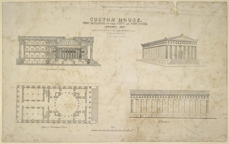 This is What Alexander Hamilton United States Custom House Looked Like  on 1/1837