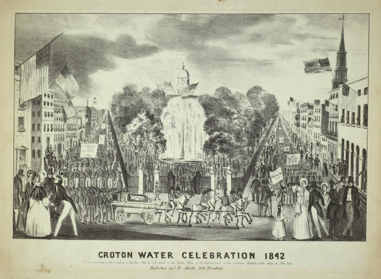 Croton water celebration 1842 / entered. . .1842 by J. F. Atwill. . . ; published by J. F. Atwill, 201 Broadway.
