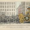 Van Amburgh & Cos. triumphal car passing the Astor House, April 20th, 1846. 417.