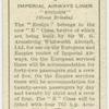 """Imperial Airways liner """"Ensign"""":"""