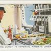 "Preparing for lunch on Imperial Airways liner ""Scylla""."