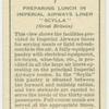 "Preparing for lunch on Imperial Airways liner ""Scylla""."