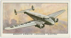 "Braniff Airways: Lockheed ""Electra."""