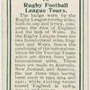 Rugby Football League tours.