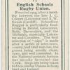 English schools rugby union.