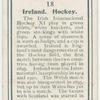 Ireland. Hockey.