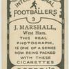 J. Marhsall, West Ham.