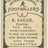 E. Sagar, Everton.
