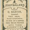 C. Bastin, Arsenal.