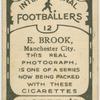 E. Brook, Manchester City.