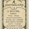 J. Hulme, Arsenal.