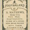 S. Matthews, Stoke City.