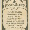 S. Cowan, Manchester City.