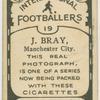 J. Bray, Manchester City.