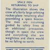 Space men returning to ship.