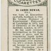 Sir James Dewar.  Liquid air.