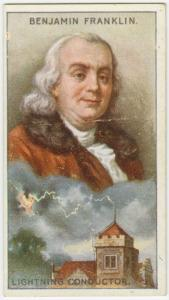 Benjamin Franklin.  Lightning conductors.