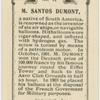 M. Santos Dumont.  Air ship.